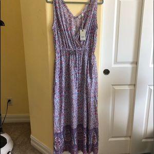Lucky L Floral Print Sleeveless Maxi Dress NWT